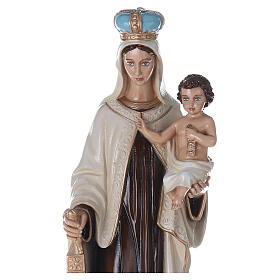 Statua Madonna del Carmelo 80 cm fiberglass dipinto PER ESTERNO s4