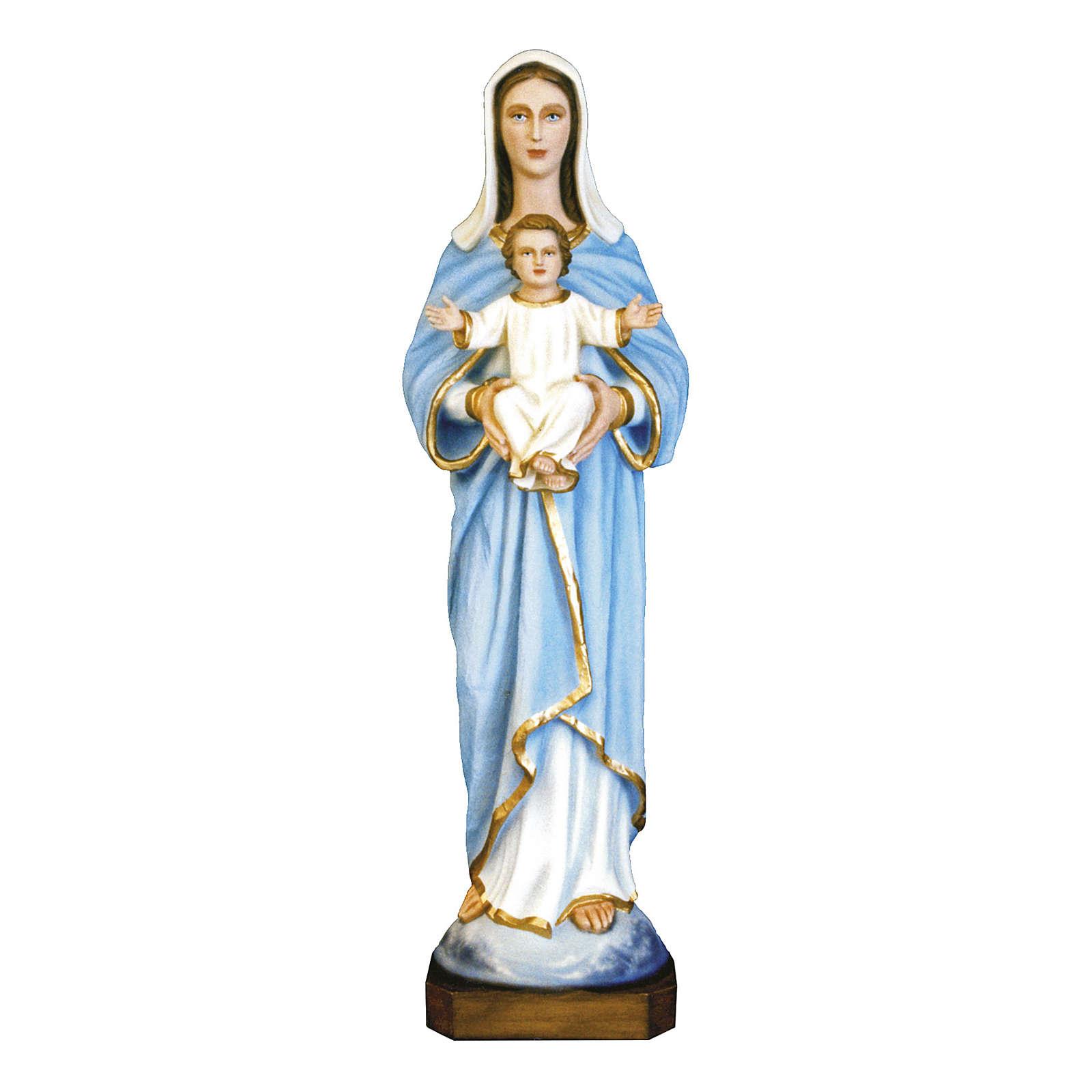 Estatua Virgen con niño 80 cm fiberglass pintado PARA EXTERIOR 4