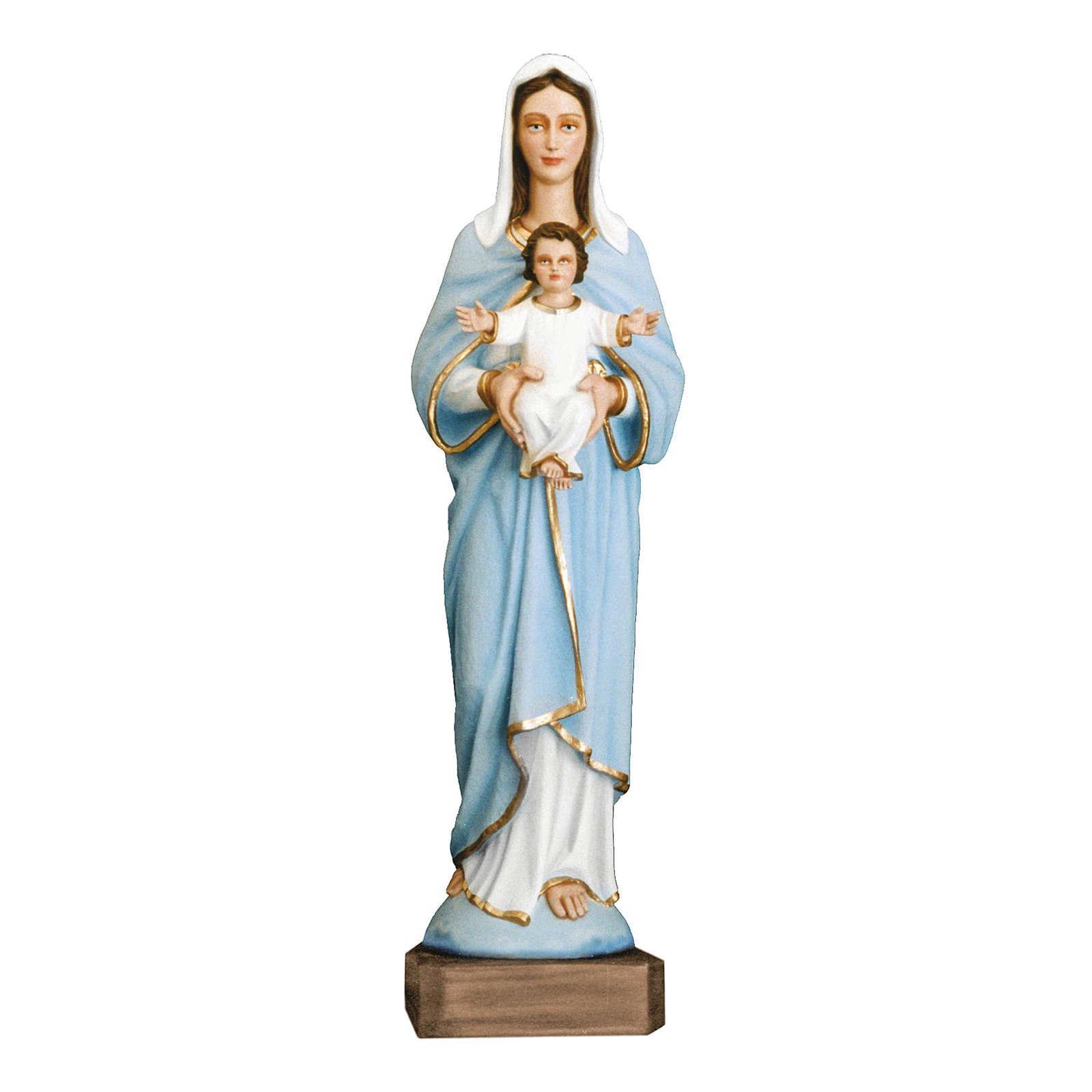 Estatua Virgen con niño 110 cm fiberglass pintado PARA EXTERIOR 4