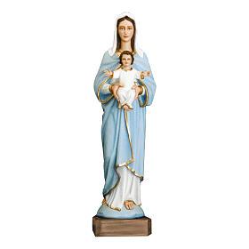 Estatua Virgen con niño 110 cm fiberglass pintado PARA EXTERIOR s1