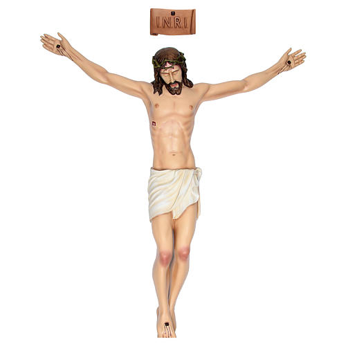 Body of Christ in painted fibreglass 90 cm for EXTERNAL USE 1