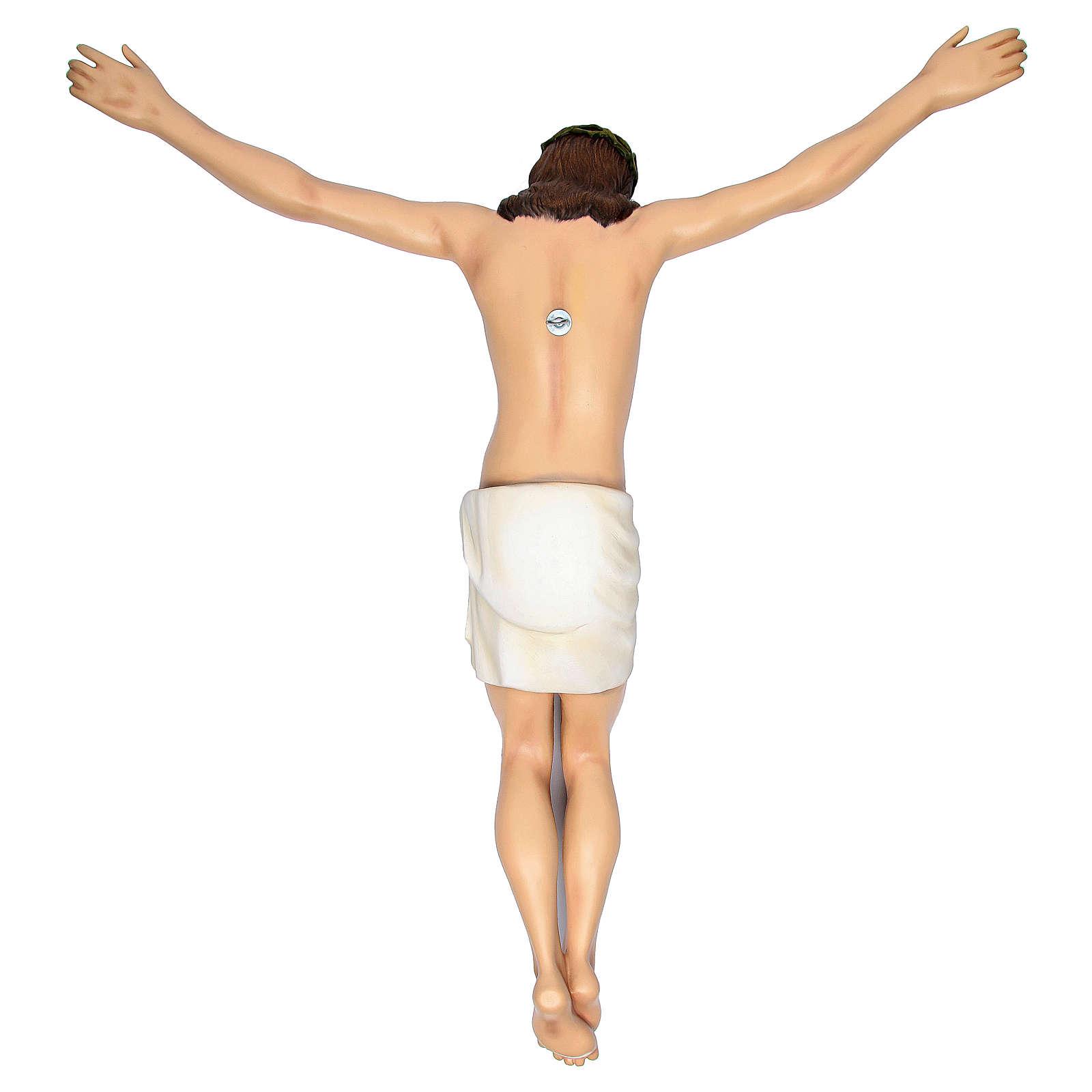 Cuerpo de Cristo 90 cm de fibra de vidrio pintada PARA EXTERIOR 4