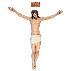 Cuerpo de Cristo 90 cm de fibra de vidrio pintada PARA EXTERIOR s1