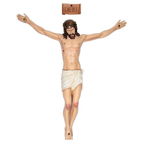 Cuerpo de Cristo 90 cm de fibra de vidrio pintada PARA EXTERIOR 1