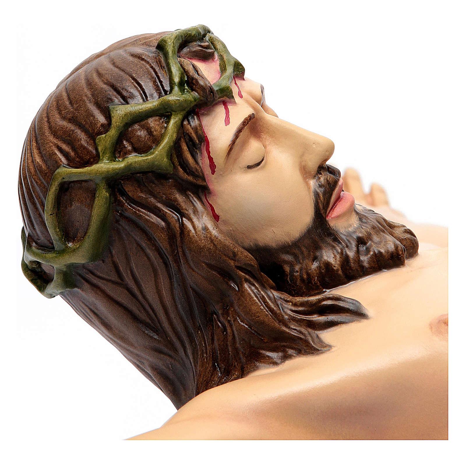 Corpo di Cristo 90 cm in vetroresina dipinta PER ESTERNO 4