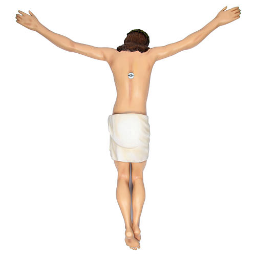 Corpo di Cristo 90 cm in vetroresina dipinta PER ESTERNO 5