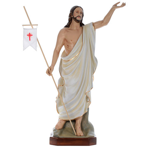 Estatua Jesús Resucitado 130 cm fiberglass pintado PARA EXTERIOR