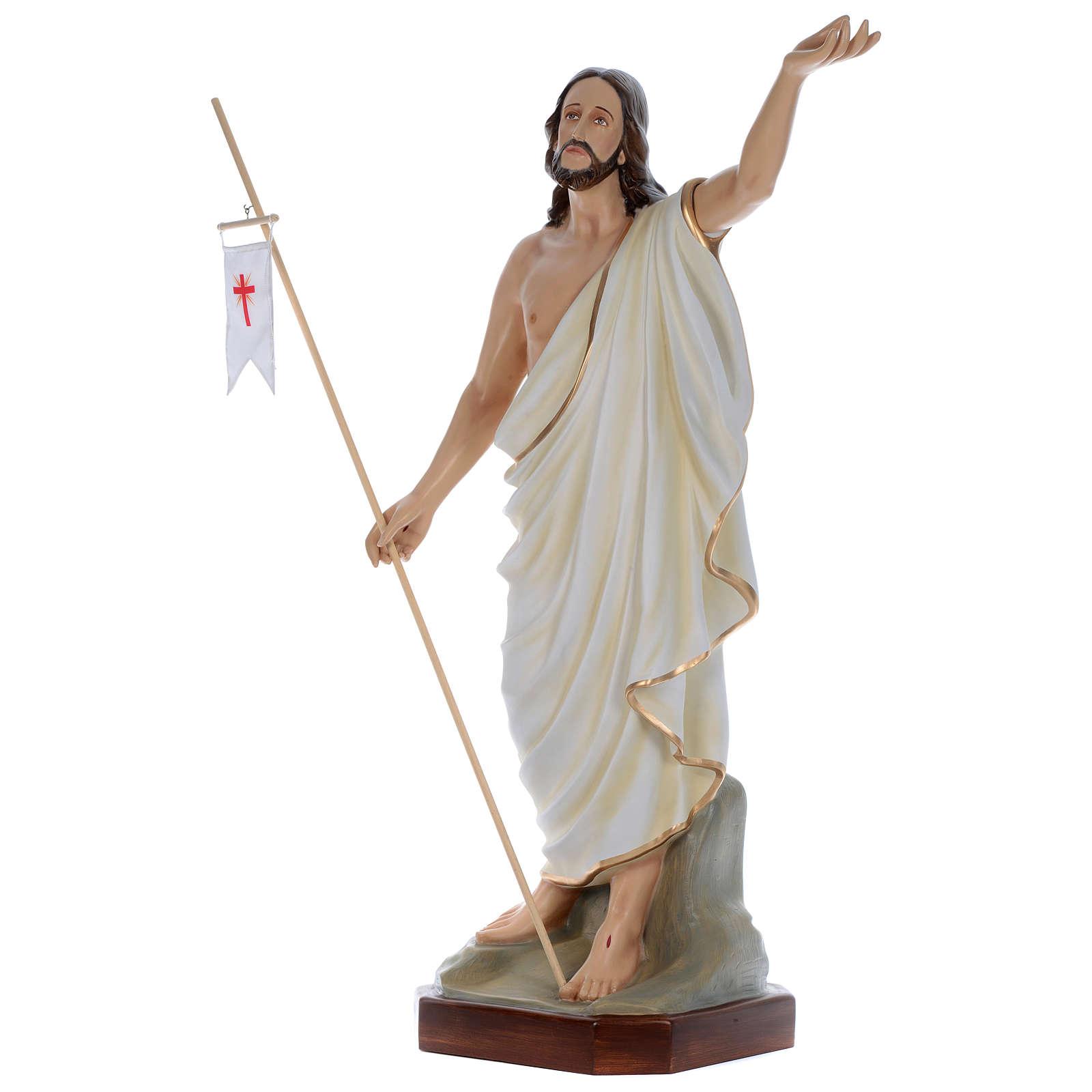 Statua Gesù Risorto 130 cm fiberglass dipinto PER ESTERNO 4