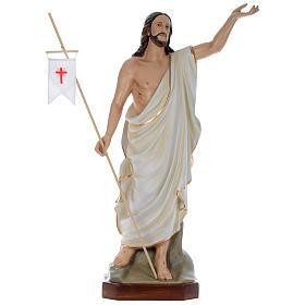Statua Gesù Risorto 130 cm fiberglass dipinto PER ESTERNO s1