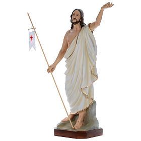 Statua Gesù Risorto 130 cm fiberglass dipinto PER ESTERNO s2