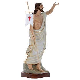 Statua Gesù Risorto 130 cm fiberglass dipinto PER ESTERNO s3
