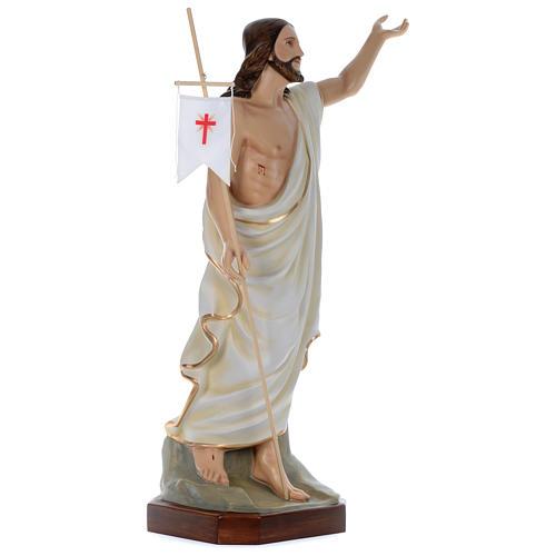 Statua Gesù Risorto 130 cm fiberglass dipinto PER ESTERNO 3