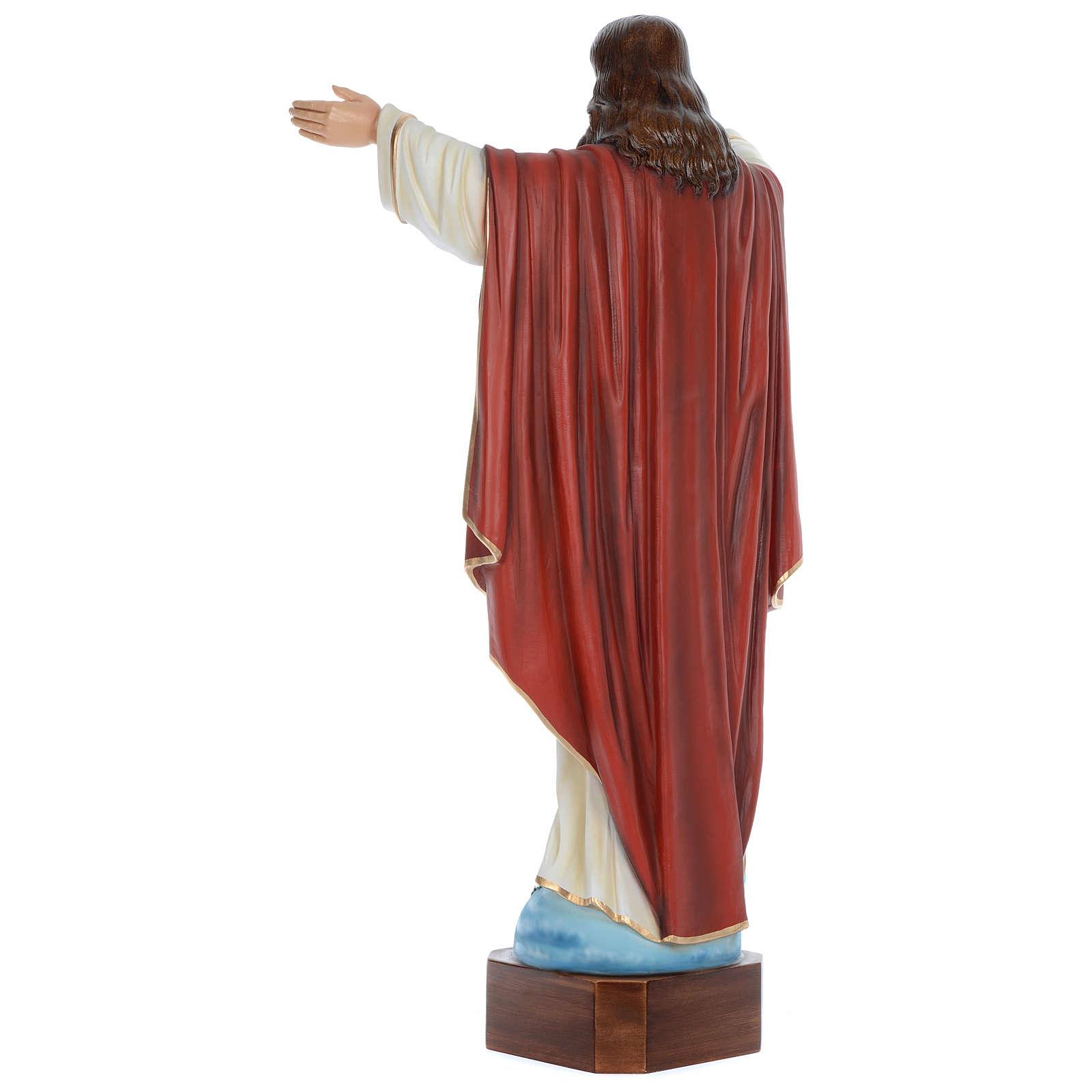 Statua Cristo Redentore 100 cm vetroresina dipinta PER ESTERNO 4
