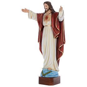 Statua Cristo Redentore 100 cm vetroresina dipinta PER ESTERNO s2