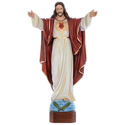 Statua Cristo Redentore 100 cm vetroresina dipinta PER ESTERNO 1