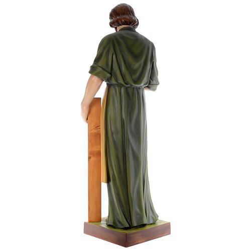 Estatua San José carpintero 150 cm fibra de vidrio coloreada PARA EXTERIOR 4