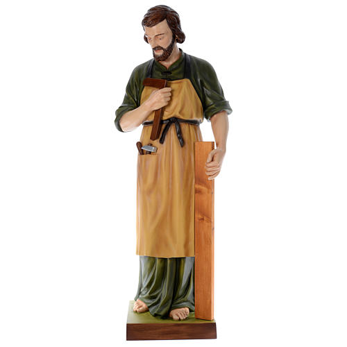 Statua San Giuseppe falegname 150 cm vetroresina colorata PER ESTERNO 1