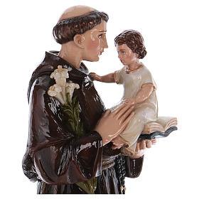 Estatua San Antonio de Padua 65 cm fibra de vidrio pintada PARA EXTERIOR