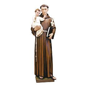 Estatua San Antonio de Padua 160 cm fiberglass pintada PARA EXTERIOR