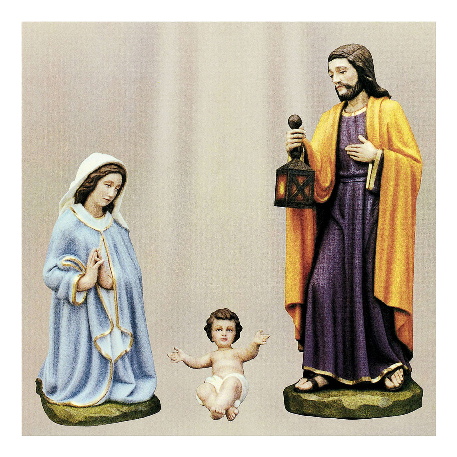 Holy Family for Nativity Scene in painted fibreglass 100 cm for EXTERNAL USE 4