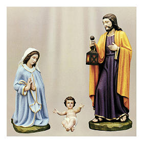 Holy Family for Nativity Scene in painted fibreglass 100 cm for EXTERNAL USE s1