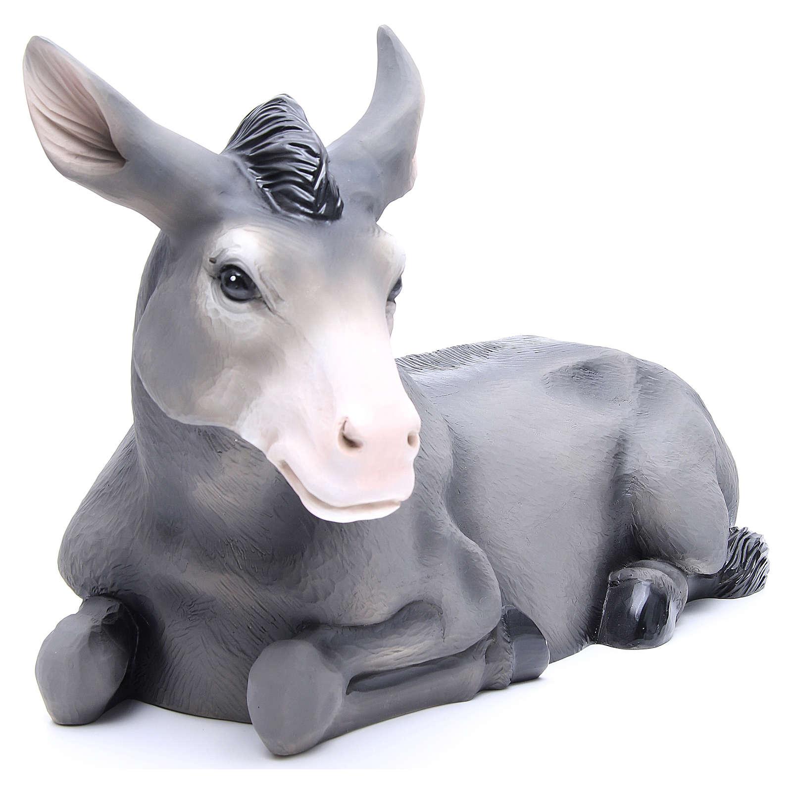 Boeuf et âne en fibre de verre peinte crèche 100 cm POUR EXTÉRIEUR 4