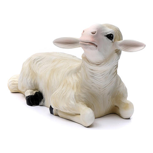 2 Sheep for Nativity Scene in painted fibreglass 80 cm for EXTERNAL USE 2