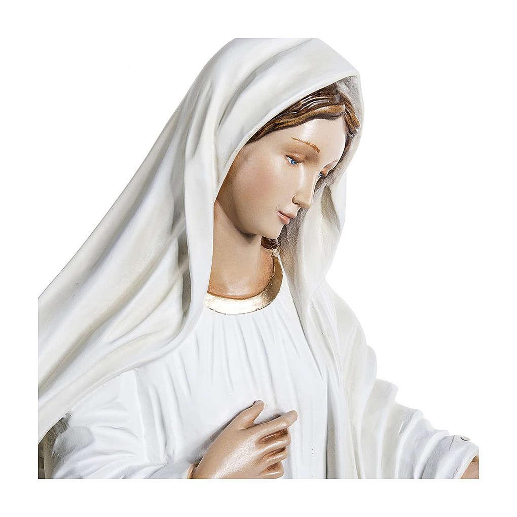 Estatua Virgen de Medjugorje 130 cm fiberglass PARA EXTERIOR 4