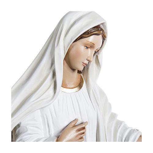 Estatua Virgen de Medjugorje 130 cm fiberglass PARA EXTERIOR 6