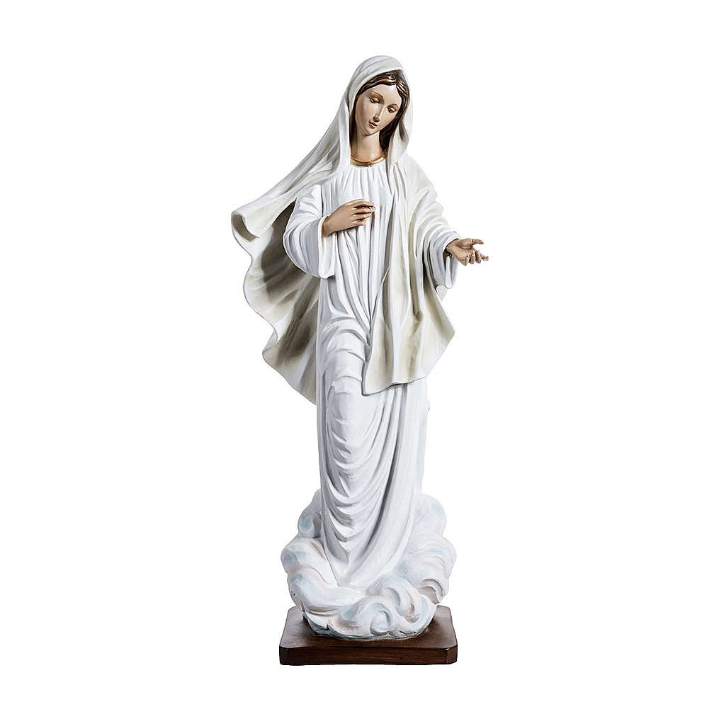 Mary of Medjugorje Statue, 130 cm in fiberglass FOR OUTDOORS 4