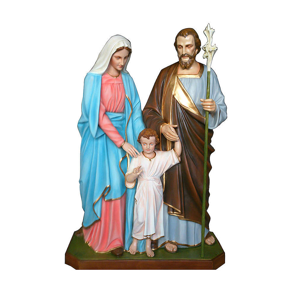 Statue of the Holy Family in fibreglass 170 cm for EXTERNAL USE 4