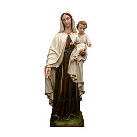 Statua Madonna con bambino 170 cm vetroresina PER ESTERNO s1