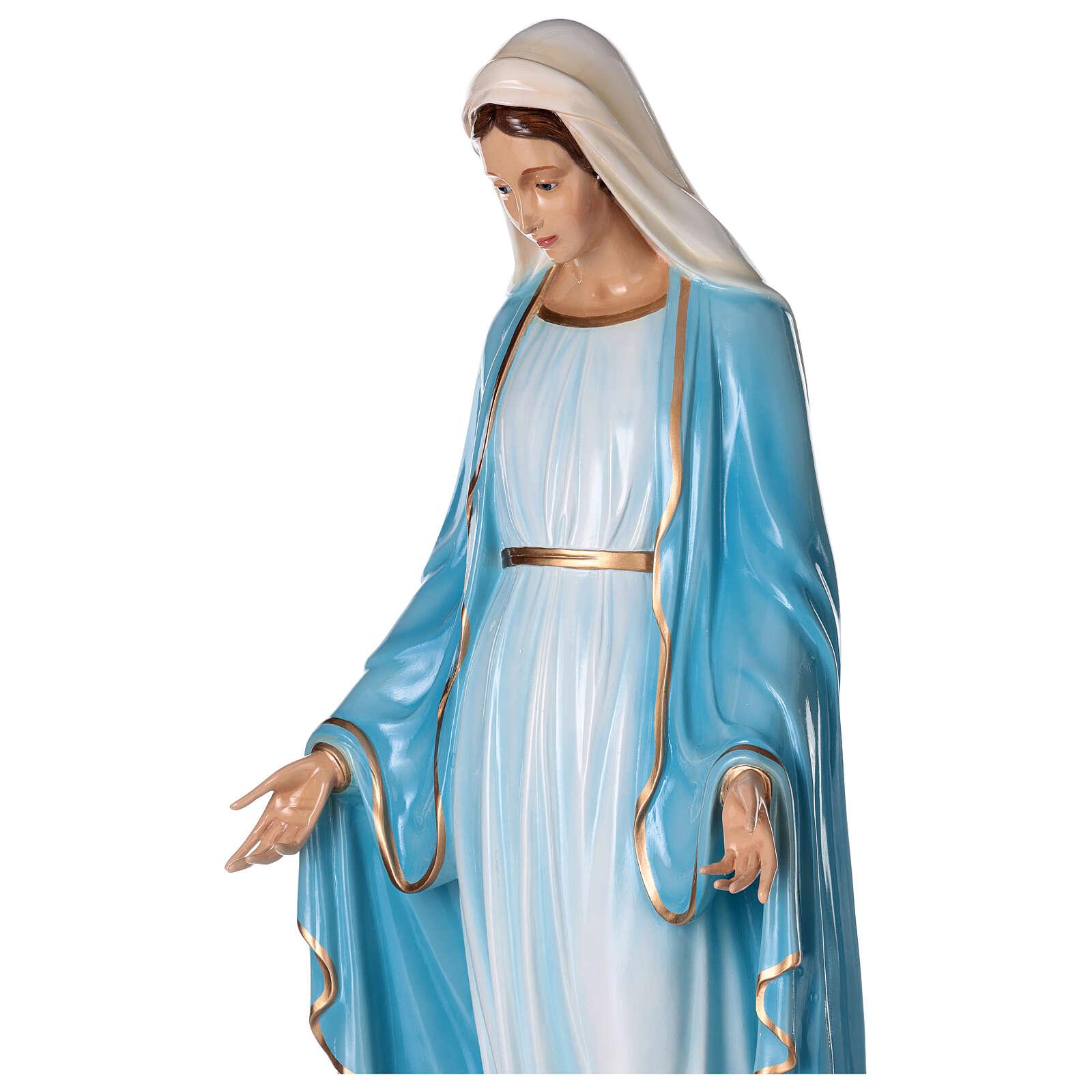 Statua Maria Immacolata occhi cristallo 145 cm vetroresina PER ESTERNO 4