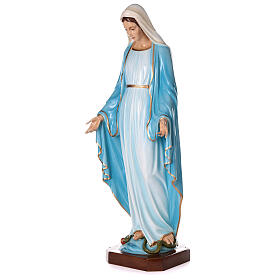 Statua Maria Immacolata occhi cristallo 145 cm vetroresina PER ESTERNO s4
