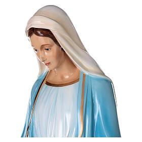 Statua Maria Immacolata occhi cristallo 145 cm vetroresina PER ESTERNO s5
