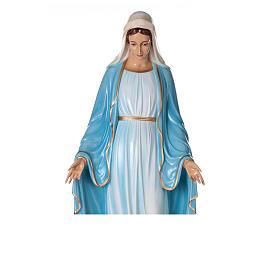 Statua Maria Immacolata occhi cristallo 145 cm vetroresina PER ESTERNO s6