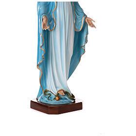 Statua Maria Immacolata occhi cristallo 145 cm vetroresina PER ESTERNO s8