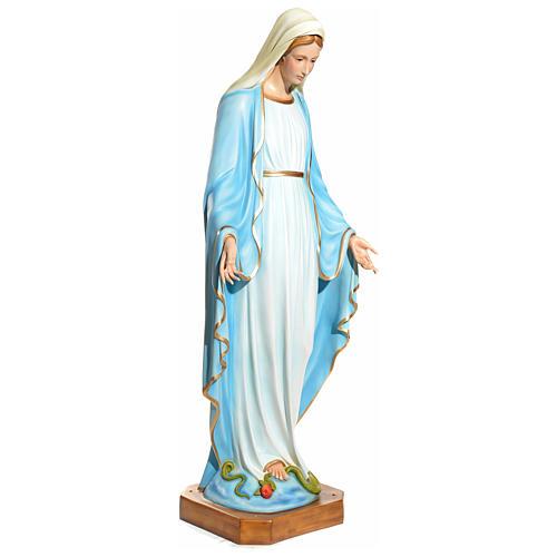 Statua Maria Immacolata 145 cm vetroresina PER ESTERNO 2
