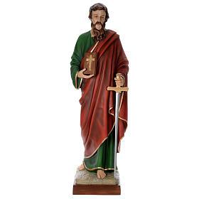Estatua San Pablo cm 160 fibra de vidrio coloreada PARA EXTERIOR s1