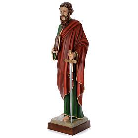 Estatua San Pablo cm 160 fibra de vidrio coloreada PARA EXTERIOR s2