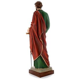 Estatua San Pablo cm 160 fibra de vidrio coloreada PARA EXTERIOR s4