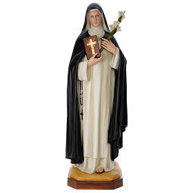 Statue of St. Catherine in coloured fibreglass 160 cm for EXTERNAL USE
