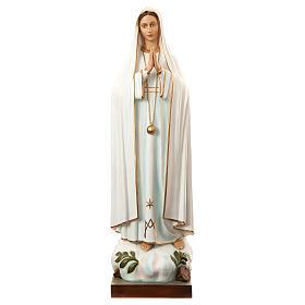 Nossa Senhora de Fátima 180 cm fibra de vidro pintada PARA EXTERIOR