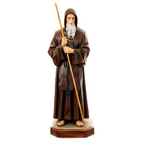 Statue of St. Francis of Paola in painted fibreglass 170 cm for EXTERNAL USE s1