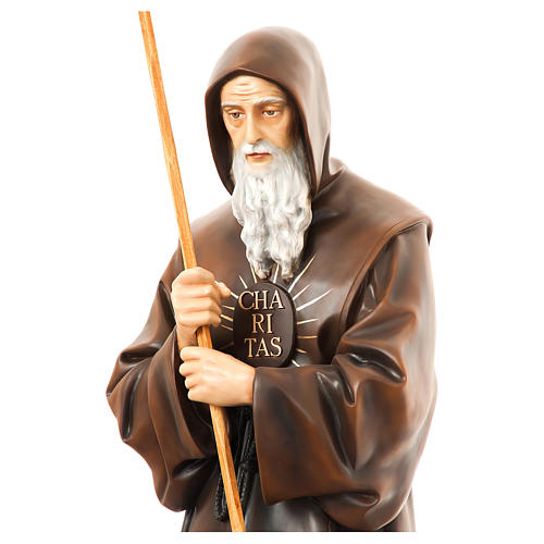 Statue of St. Francis of Paola in painted fibreglass 170 cm for EXTERNAL USE 2