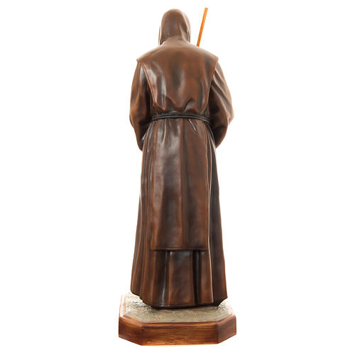 Statue of St. Francis of Paola in painted fibreglass 170 cm for EXTERNAL USE 5