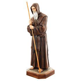 Estatua San Francisco de Paula 170 cm fibra de vidrio pintada PARA EXTERIOR s3