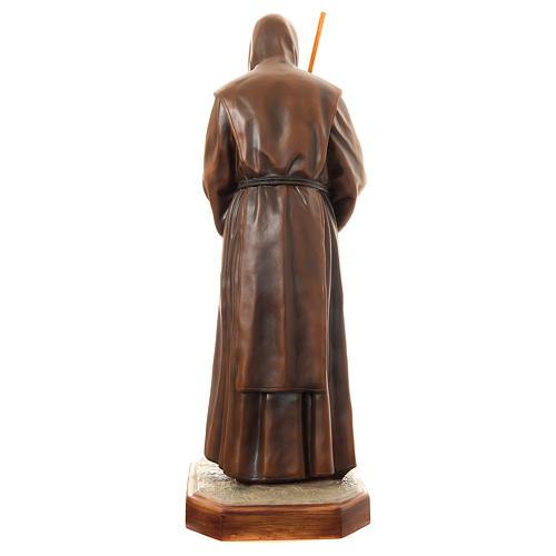 Estatua San Francisco de Paula 170 cm fibra de vidrio pintada PARA EXTERIOR 5
