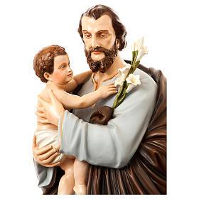 Statua San Giuseppe con bambino 175 cm vetroresina dipinta PER ESTERNO s2