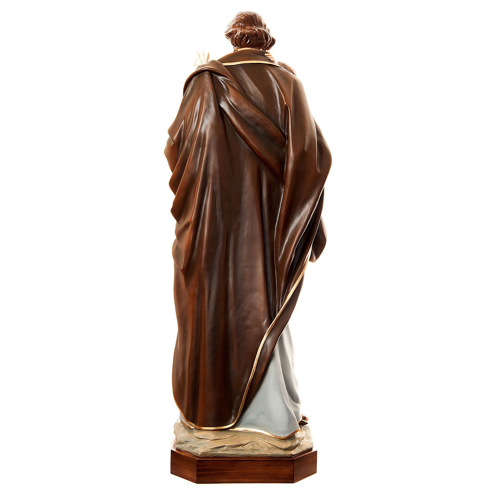 Statue Saint Joseph with Child, 175 cm in painted fiberglass FOR OUTDOORS 4
